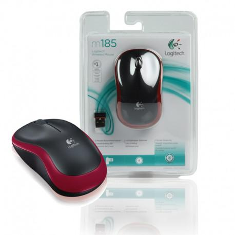 Мишка Logitech Wireless mouse M185 - Red