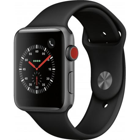 Apple Watch Series 3 38mm GPS + Cellular Space Black Stainless Steel Case with Black Sport Band OPEN BOX