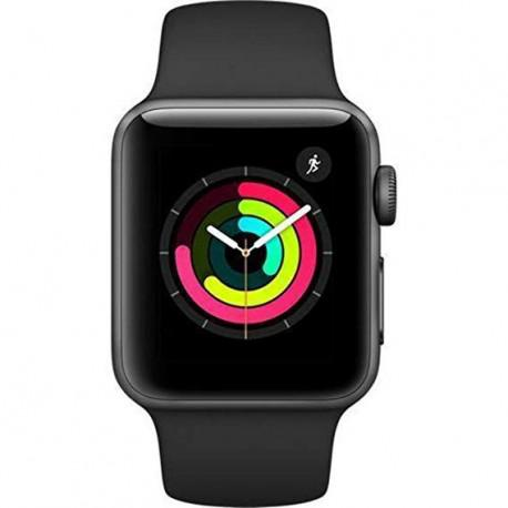 Apple Watch Series 3 38mm GPS + Cellular Space Black Stainless Steel Case with Black Sport Band OPEN BOX - 3