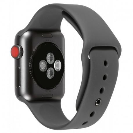 Apple Watch Series 3 38mm GPS + Cellular Space Black Stainless Steel Case with Black Sport Band OPEN BOX - 2