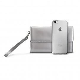Комплект PURO METAL DUO за iPhone 6S и 6, Сребрист