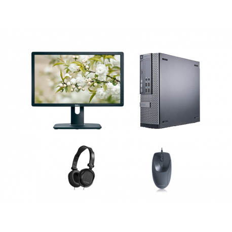 Combo pack 3: Computer, monitor, mouse and headphones