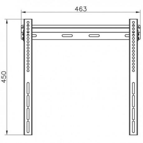 Wall stand for TV Vivanco 37971 up to 55
