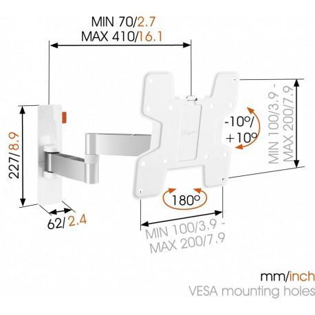 Въртяща се стойка за телевизор с две рамена Vogel`s W53061 до 37
