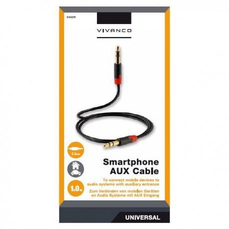 Cable Vivanco 34529, 3.5mm, AUX, 1.0m