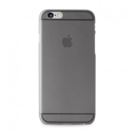Силиконов калъф за IPhone 6, 6s черен-прозрачен