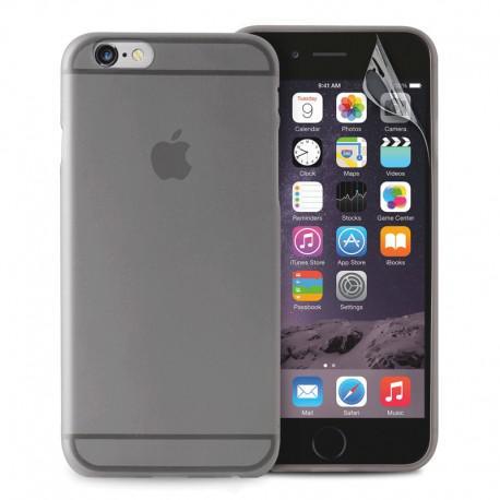 Силиконов калъф за IPhone 6, 6s черен-прозрачен - 1