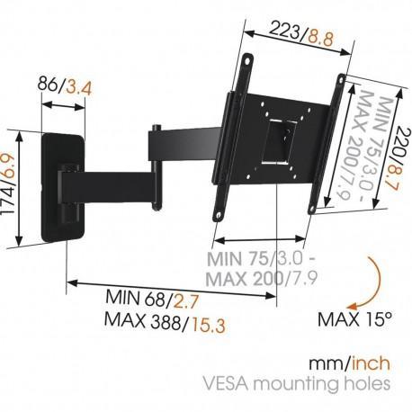 Въртяща се стойка за телевизор с две рамена Vogel`s MA2040 до 40
