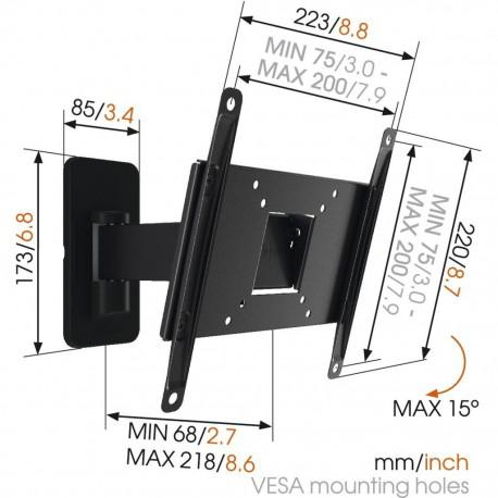 Moving wall stand for TV Vogel`s MA2030 up to 40