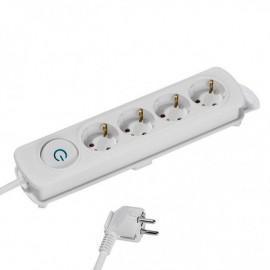 Разклонител Vivanco 37645, 4 гнезда, 2.5м кабел, бял
