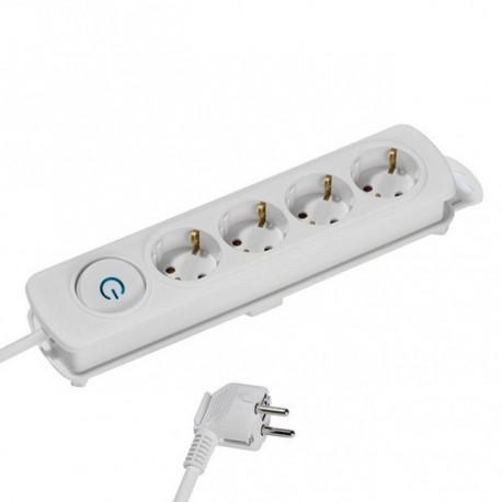 Power strip Vivanco 37645, 4 sockets, 2.5m cable, white