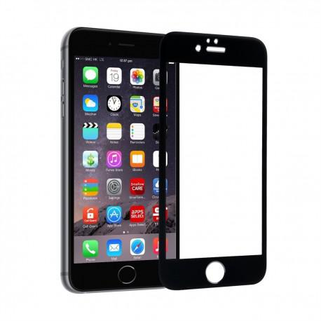 Screen protector ROFI from tempered glass with black frame for Apple iPhone 6