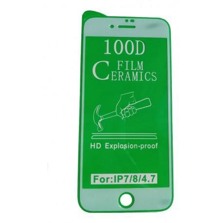 Керамичен протектор за Apple iPhone 7/8 бял