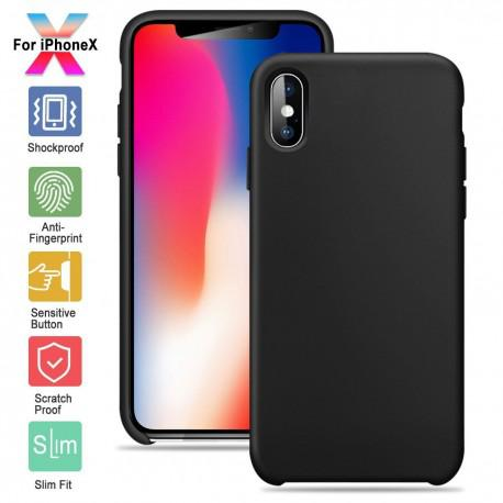 Silicone case for IPhone X black - 1