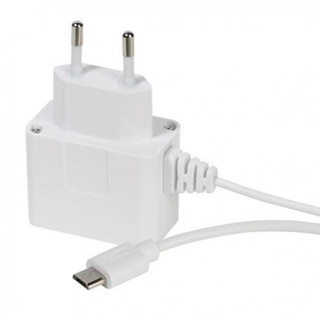 Зарядно устройство Vivanco 36265, 1A, Micro USB, 1m, бяло