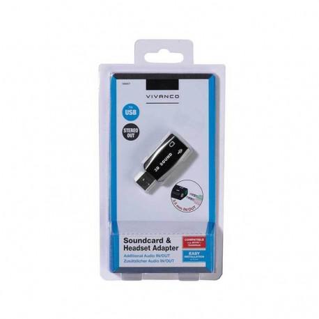 External sound card Vivanco 36657, USB 2.0, Black - 3