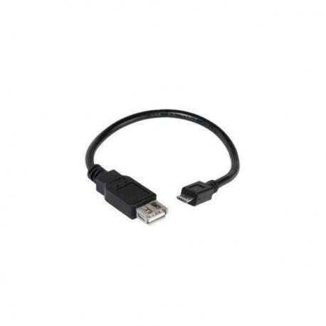 OTG adapter from Micro USB to USB female Vivanco 34761, 0.15m, Black