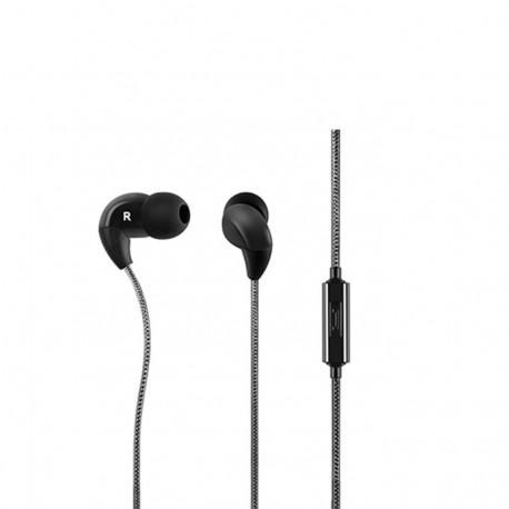 Black headphones ACME HE16B with a microphone
