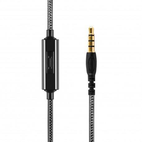 Black headphones ACME HE16B with a microphone - 3