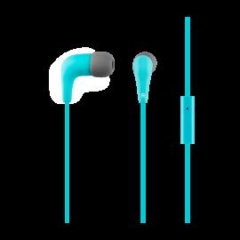 Blue headphones ACME HE15B with a microphone