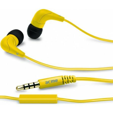 Yellow headphones ACME HE15Y with a microphone - 2