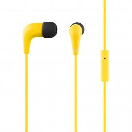 Yellow headphones ACME HE15Y with a microphone