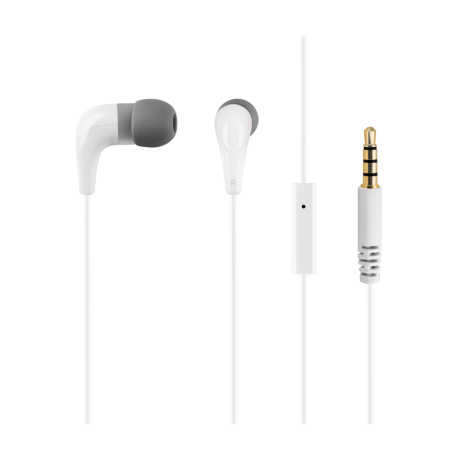 White headphones ACME HE15W with a microphone