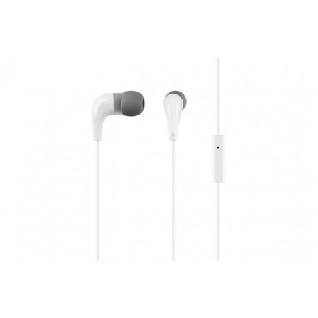 White headphones ACME HE15W with a microphone - 2