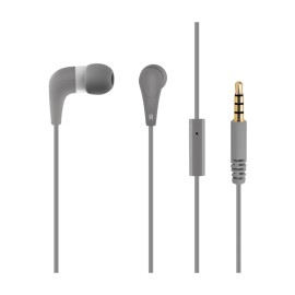 Gray headphones ACME HE15G with a microphone
