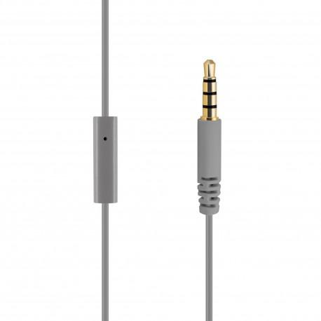 Gray headphones ACME HE15G with a microphone - 2