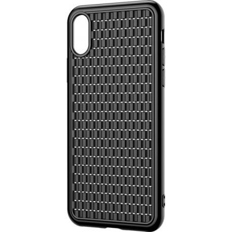 Silicone case for iPhone XR Baseus Weaving Case Black WIAPIPH61-BV01