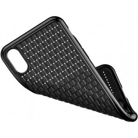 Silicone case for iPhone XR Baseus Weaving Case Black WIAPIPH61-BV01 - 2