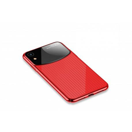Silicone case for iPhone XR USAMS IPXRMJ02 Black/Red - 2
