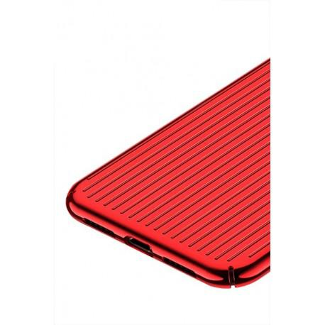 Silicone case for iPhone XR USAMS IPXRMJ02 Black/Red - 3