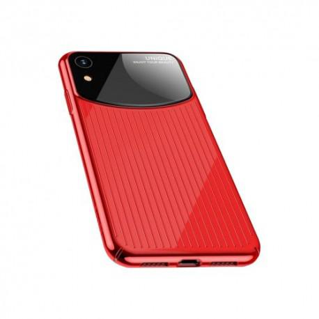 Silicone case for iPhone XR USAMS IPXRMJ02 Black/Red - 4