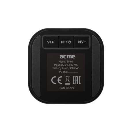 Portable black wireless speaker ACME SP109 - 5