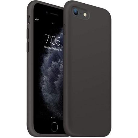 Черен силиконов кейс за Apple iPhone SE 2020