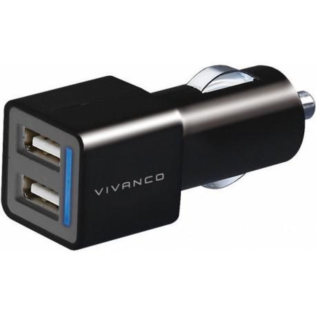 Car charger Vivanco 35588, 2x10W, 2x USB, 12V