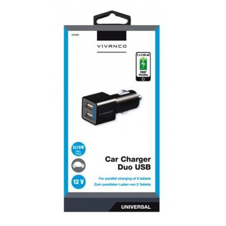 Car charger Vivanco 35588, 2x10W, 2x USB, 12V - 2