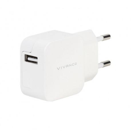 Зарядно устройство Vivanco 37562, 2.4A, USB