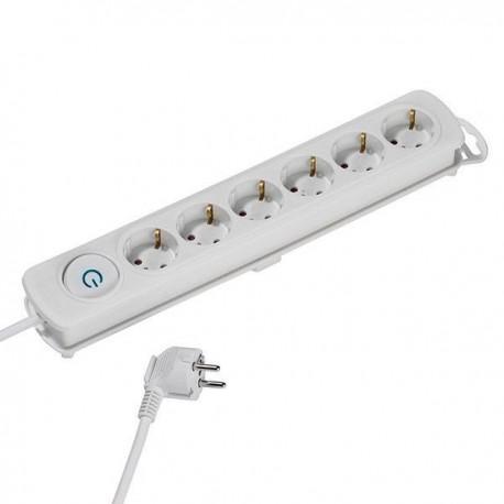 Разклонител Vivanco 37650, 6 гнезда, 4м кабел, бял