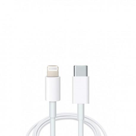 Кабел за iPhone и iPad, Lightning, USB-C, 1.0m, Бял