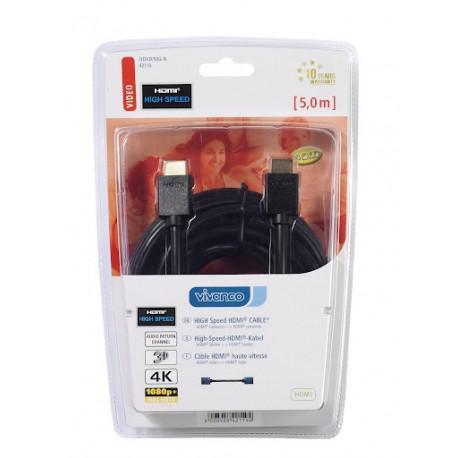 HDMI Кабел VIVANCO 42119, 4К High Speed, 5м