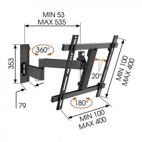 TV стойкa с две рамена и наклон Vogel's WALL W53070 - 3
