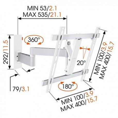 TV стойкa с две рамена и наклон Vogel's WALL W53071 - 3