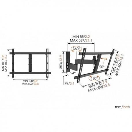 TV стойкa с две рамена и наклон Vogel's WALL W53080 - 3