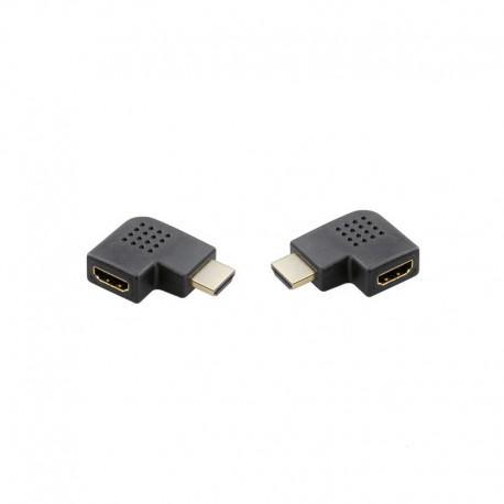 Set of 2 HDMI adapters 90° angle Vivanco 42088, 2 pieces, Black