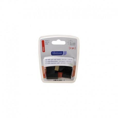 Set of 2 HDMI adapters 90° angle Vivanco 42088, 2 pieces, Black - 2