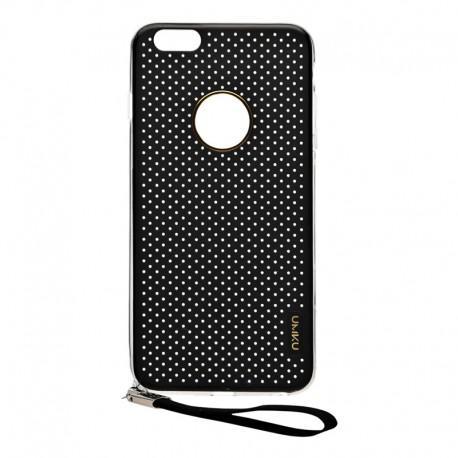 Луксозен калъф UMKU SIMPLE за IPhone 6, Твърд, Черен