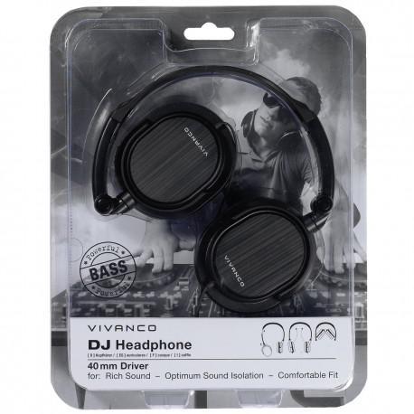 Слушалки Vivanco DJ 20 Black - 4